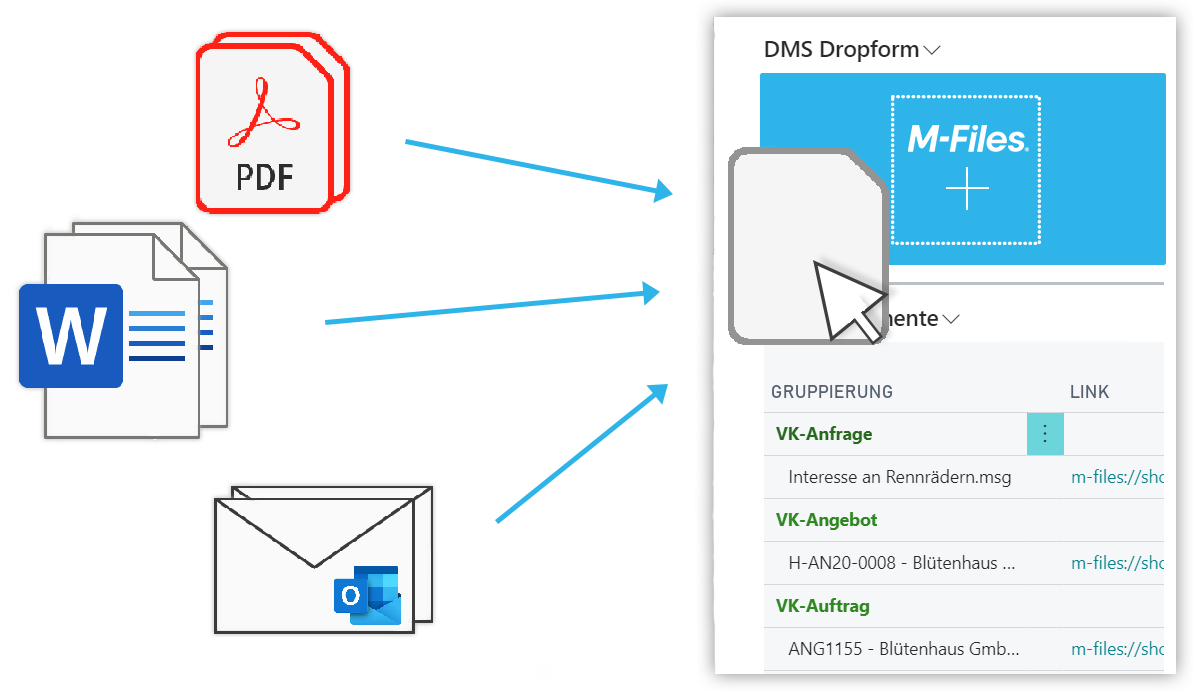 Accessing documents from Business Central in M-Files
